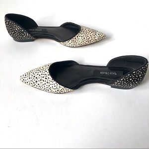 WHBM Spotted Calf Hair D'Orsay Flats